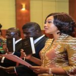 Nana Addo Swears In Jean Mensa As New EC Chair